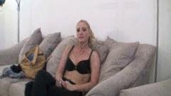 Blonde college girl exposing