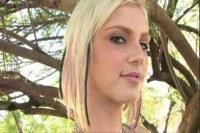 Stunning blonde teen naked in public
