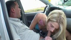 Blonde fucking in public places