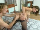Busty frilly brunette spreads for fucking