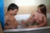 Bathroom amateur sex