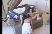 Hot lesbian teen fingering her maid