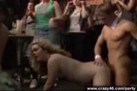 Horny sluts riding cock in public