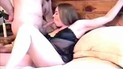 Tied wife sucking cock