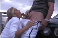 Jessi Lee James giving blowjob