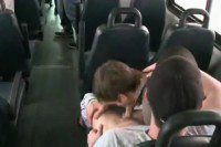 Public gay sex in the bus