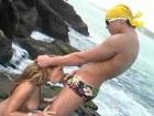 Sweet anal on the beach