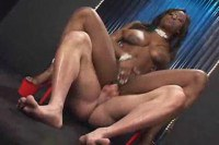 Jada Fire hot ebony babe fucked by hunk dude