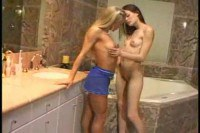 Teenage friends experimenting lesbian