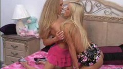 Busty teen blondes get into girl on girl fun