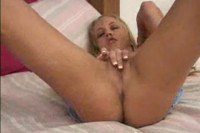 Innocent amateur blonde rubbing