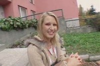 Russian cutie getting paid for public sex