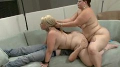 Two bbw in a gangbang