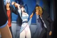Brunette anime schoolgirl fucking