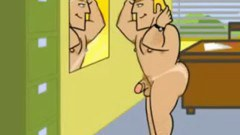 A gay man sex toon