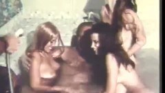 Retro hot tub orgy