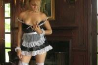 Seductive Blonde French Maid Posing