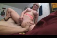 Tight pussy blonde gets drilled by her guy