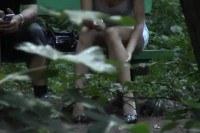 Spycam spot no panties in the woods