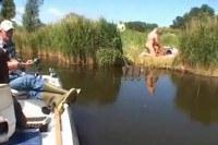 Couple fucking alongside a river