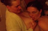 Horny girls taking a bath