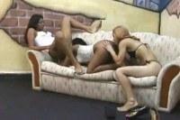 A very hardcore interracial lesbian threesome