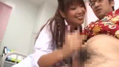 Such a cute Japanese girl giving a handjob