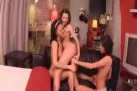 Three teens playing with dildo