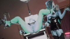 Girl strapped to a doctor chair