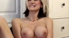 A blonde amateur with big natural boobs