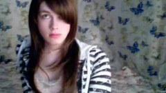 Hot tranny jerks off on her webcam