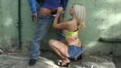 Public hand job scene