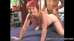A nasty mature in interracial