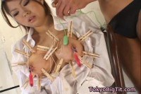 Busty Emir Ruka Mirei gets clamped!