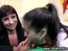 Nasty Amateur Mom and her Busty Daughter just love to suck cock