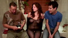 Real european prostitute gagging a customer cock