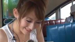 Pretty japanese babe Reon Otowa vibrator fucked in public