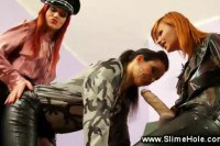 Sexy lesbians in slimehole