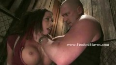 Nasty slave getting action
