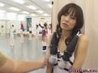 Sweet asian in public