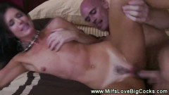 Charming milf enjoys a heavy pussy pounding