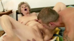 A nasty granny in action