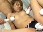 A sweet asian getting group toy action