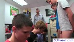 Teen guys rubbing balls