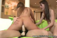 Horny lesbians and a strapon