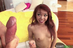Tattooed asian whore getting a rough pounding
