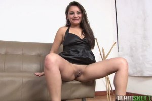 Sweet lusty latina hammered by a large black shaft