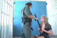 Lesbian guard getting pleasured by her submissive friend