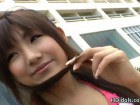 Seductive Japanese teen during her porn interview