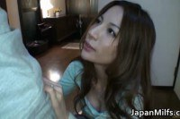 Lovely japanese MILF Anri Suzuki sucking cock and fucked from behind